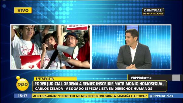 El abogado Carlos Zelada sostiene que la Constitución peruana permite la regulación del matrimonio igualitario.
