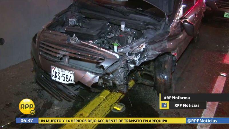 El accidente ocurrió a la altura del Puente Angamos, en Surquillo.