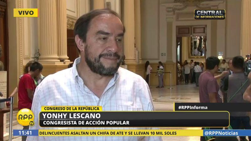 Yonhy Lescano advirtió que este fallo puede complicar las investigaciones en torno a Nadine Heredia.
