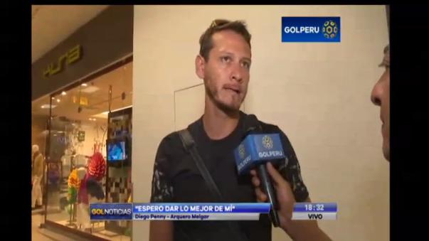 En una entrevista, el arquero Diego Penny destacó que Juan Reynoso haga jugar a todos los jugadores de su plantilla.