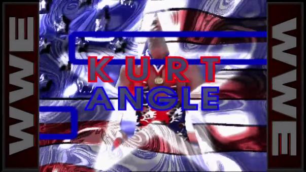 La clásica entrada de Kurt Angle previo a las peleas.
