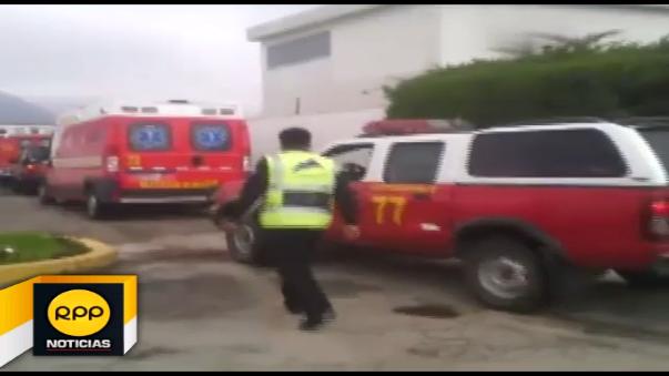 Llegada de bomberos a Caravelí