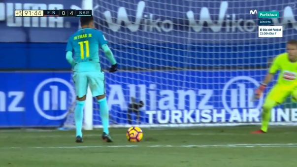 Neymar anotó su segundo gol del año con el Barcelona.
