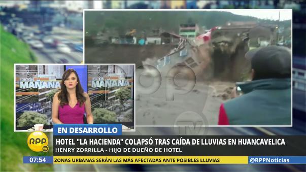 RPP Noticias se comunicó con Henry Zorrilla, hijo del dueño del hotel.