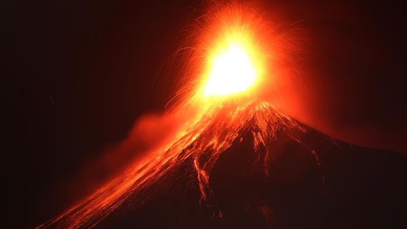 El volcán de Fuego es uno de los más activos de Guatemala.