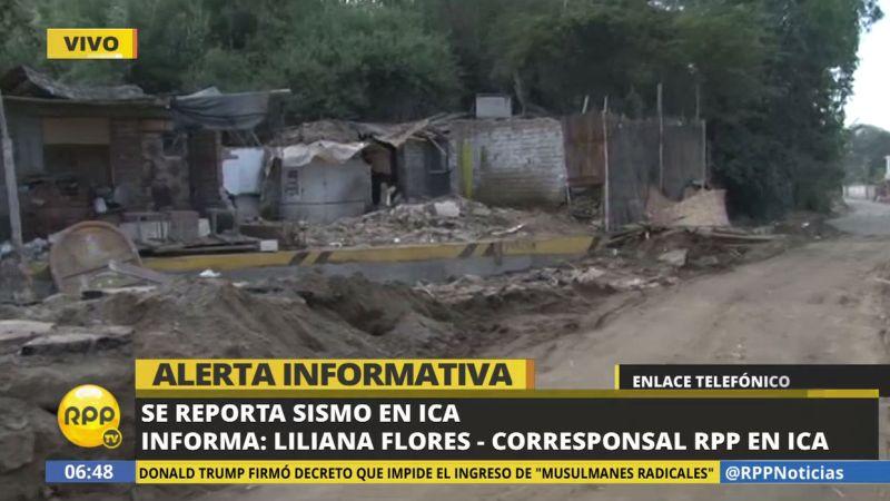 Nuestra corresponsal en Ica dijo que el sismo despertó a gran parte de la población.