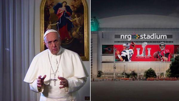 El papa Francisco envió emotivo mensaje en referencia al Super Bowl LI.
