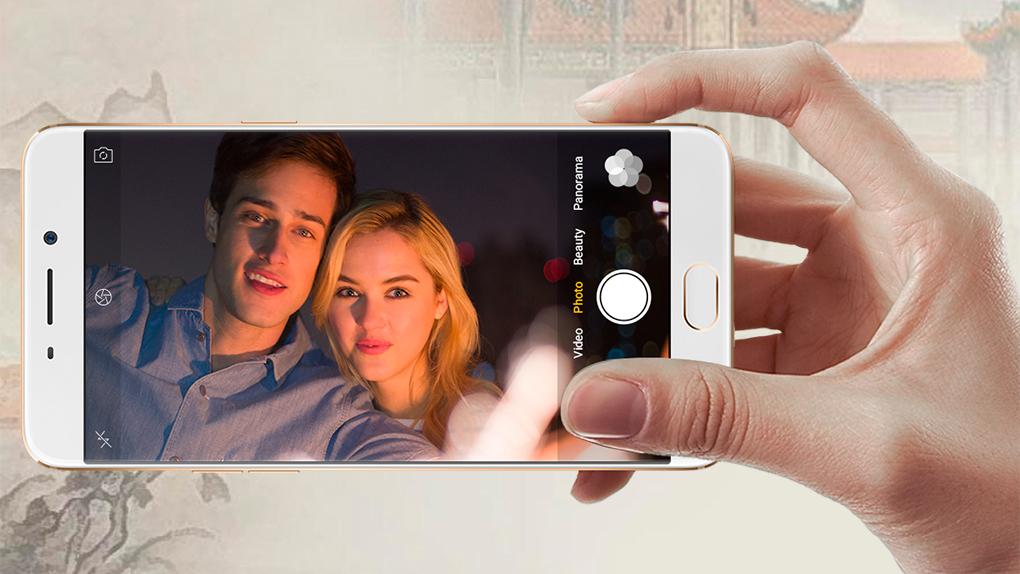La compañía china lo publicita como el mejor smartphone para los selfies.