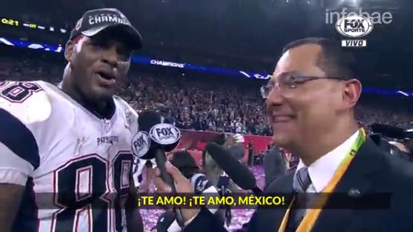 Declaraciones de Martellus Bennett luego de ganar el Super Bowl LI con los New England Patriots.