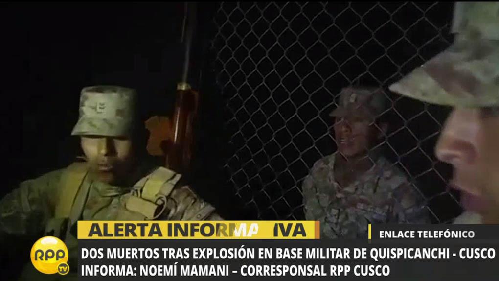 La explosión también afectó a viviendas contiguas al cuartel.