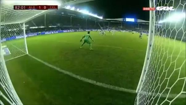 Así fue el gol de Édgar Méndez que le dio el triunfo al Deportivo Alavés.