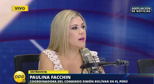 Facchin también señaló que el Gobierno de Nicolás Maduro es dictatorial y narcotraficante.