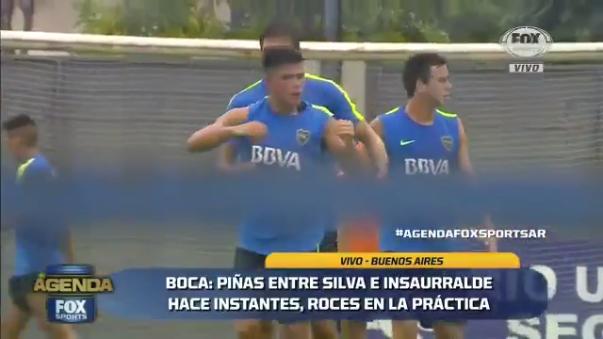 Boca Juniors se encontraba realizando sus prácticas matutinas.