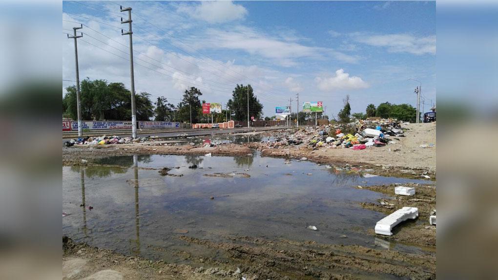 Así se encuentra en cruce de la calle prologación Bolognesi y Diamelas en la ciudad de Chiclayo.