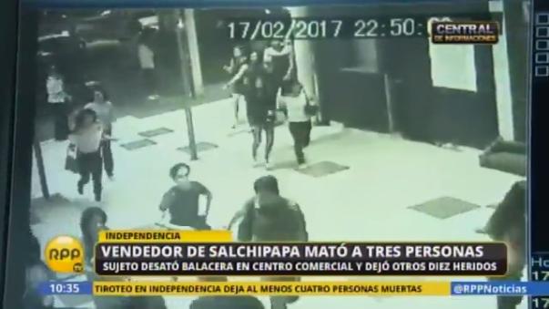 Las cámaras de seguridad muestran el inicio del terror desatado por Eduardo Romero Naupay en el centro comercial Royal Plaza.
