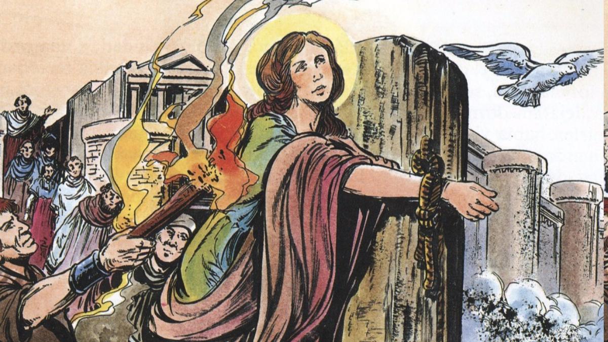 Santa Eulalila es la patrona de la ciudad de Barcelona