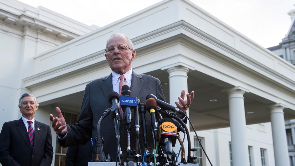 El presidente Pedro Pablo KUczynski declaró a la prensa al salir de la Casa Blanca.
