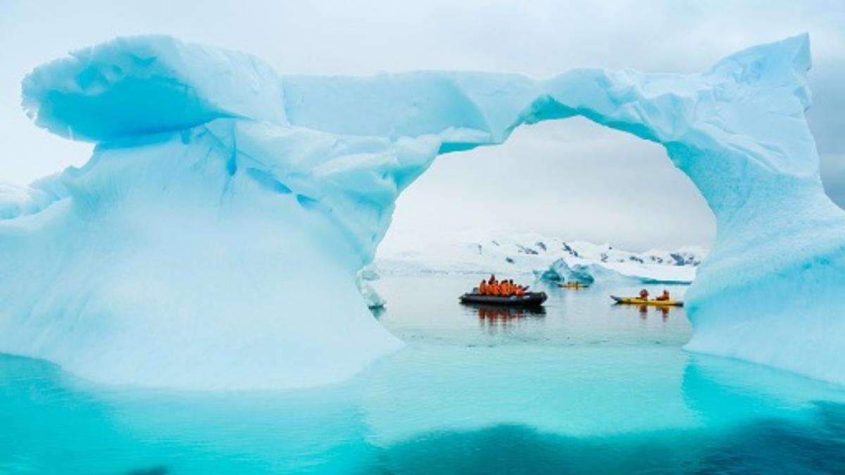 Así es el paso por el Pasaje de Drake para llegar a la Antártida.