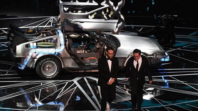 Michael J. Fox en la entrega de los premios Oscar.