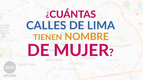El panorama de los nombres de las calles de Lima.