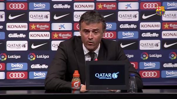 Luis Enrique anuncia la salida de Barcelona a final de la temporada.
