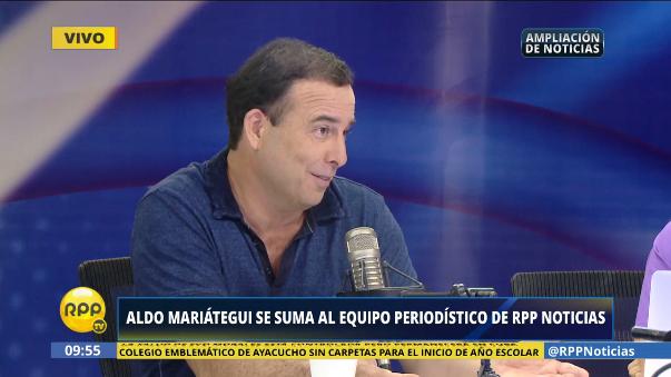 Aldo Mariátegui contó un poco sobre su trayectoria periodística.