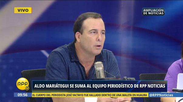 Aldo Mariátegui fue director de Correo y conductor del programa Sin Medias Tintas en Latina.