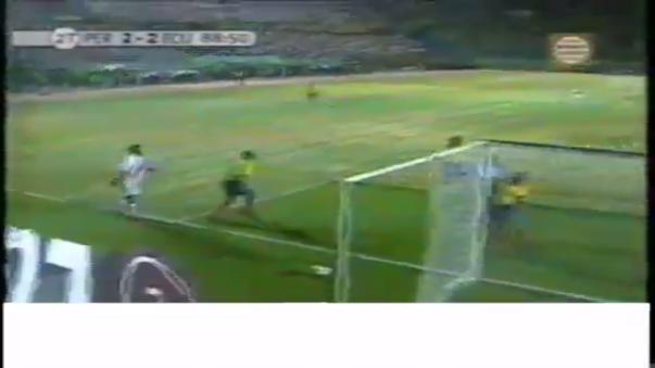 Andrés Mendoza tuvo la chance de gol a poco del final del encuentro con Ecuador.