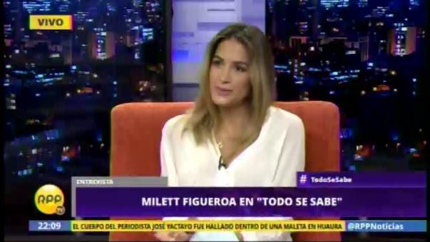 Milett Figueroa en el programa 'Todo se sabe'