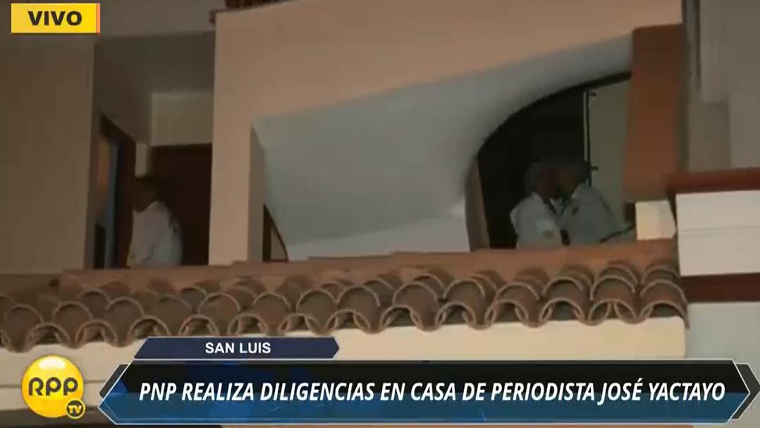 La policía realizó pericias en la casa del periodista José Yactayo en San Luis.