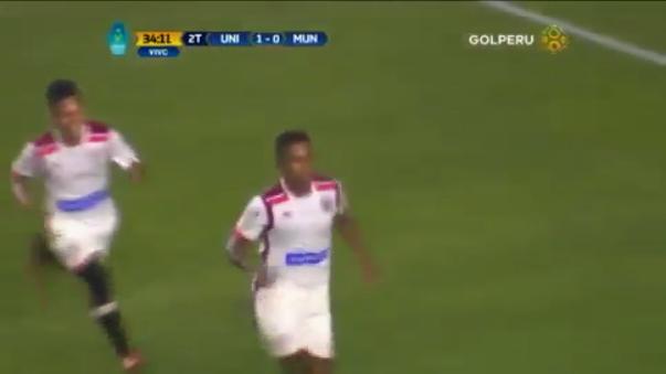 Jersson Vásquez anotó su primer gol con la camiseta de Universitario de Deportes