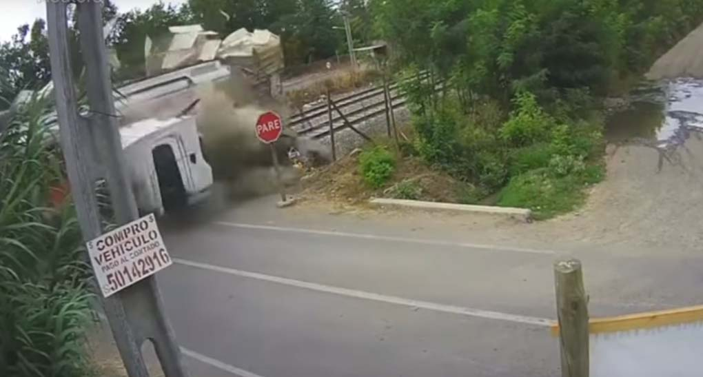 El video del accidente.