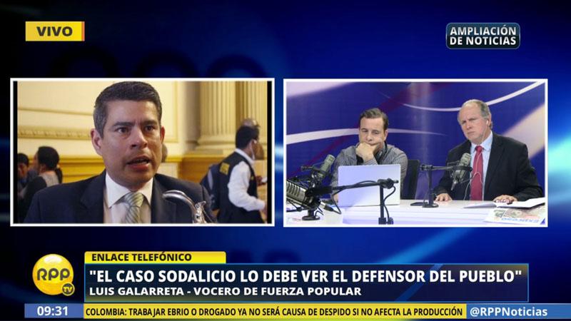 Luis Galarreta explicó a RPP Noticias las decisiones que tomó su bancada sobre el caso del Sodalicio.