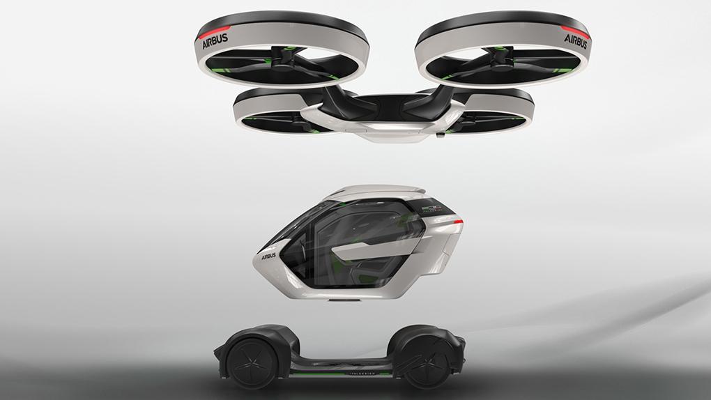 Pop.Up incluye una cápsula que se conecta a un módulo aéreo o terrestre y que se puede integrar en otros medios de transporte.