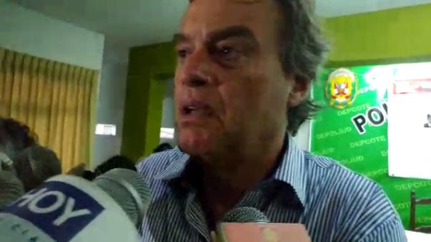 El ministro compareció ante la prensa en Chiclayo.