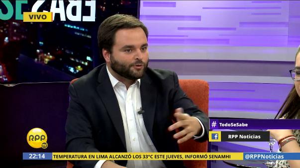 """""""Alguno de los procuradores terminará como candidato al Congreso"""", dijo el congresista oficialista, Alberto De Belaúnde en RPP Noticias."""
