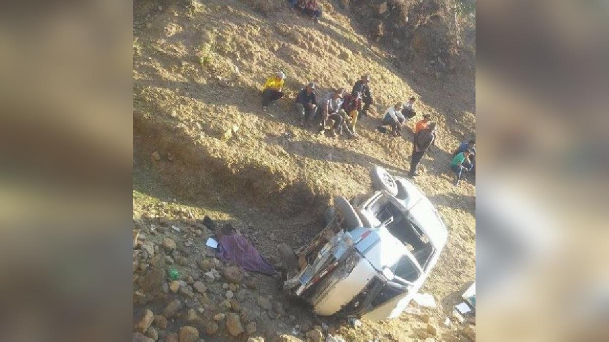 El accidente ocurrió aproximadamente a las 2 de la tarde