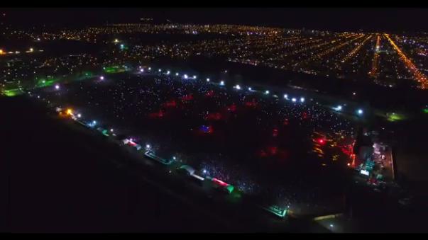 Se estima que asistieron hasta 400 mil personas al concierto.