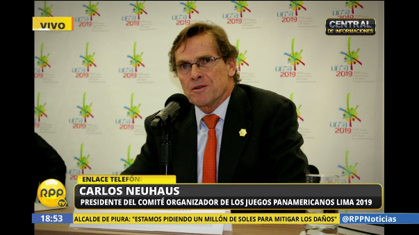 Carlos Neuhaus conversó con RPP Noticias sobre la organización de los Panamericanos 2019.