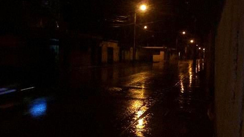 El temporal no fue fuerte, pero si constante según comentaron los vecinos.