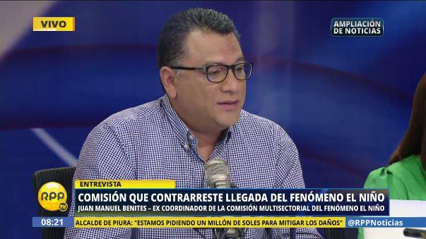 Juan Manuel Benites dijo que colabora con las labores del COEN.