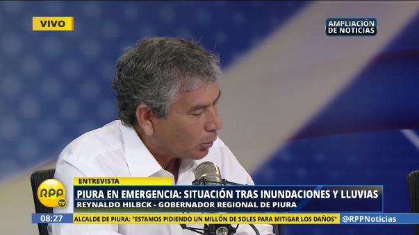 Reynaldo Hilbck dijo que su labor es apoyar a las autoridades locales.