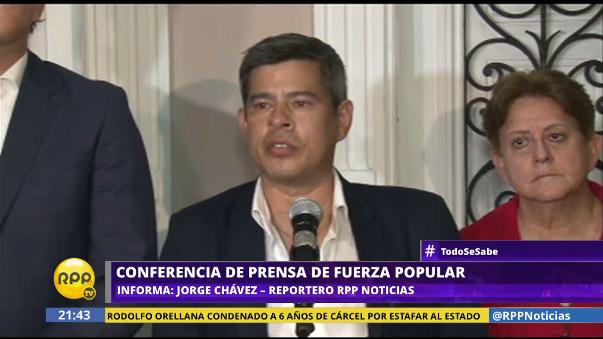 Galarreta y su bancada explicaron tres puntos sobre temas de actualidad en conferencia de prensa.