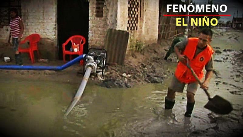 Nueve motobombas fueron enviadas a la zona de Castilla para poder recoger el agua que quedó empozada tras las lluvias.
