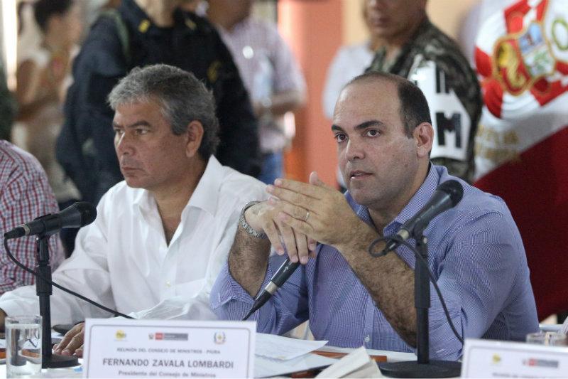 El Gabinete de ministros se reúne en Piura junto a las autoridades del gobierno local.