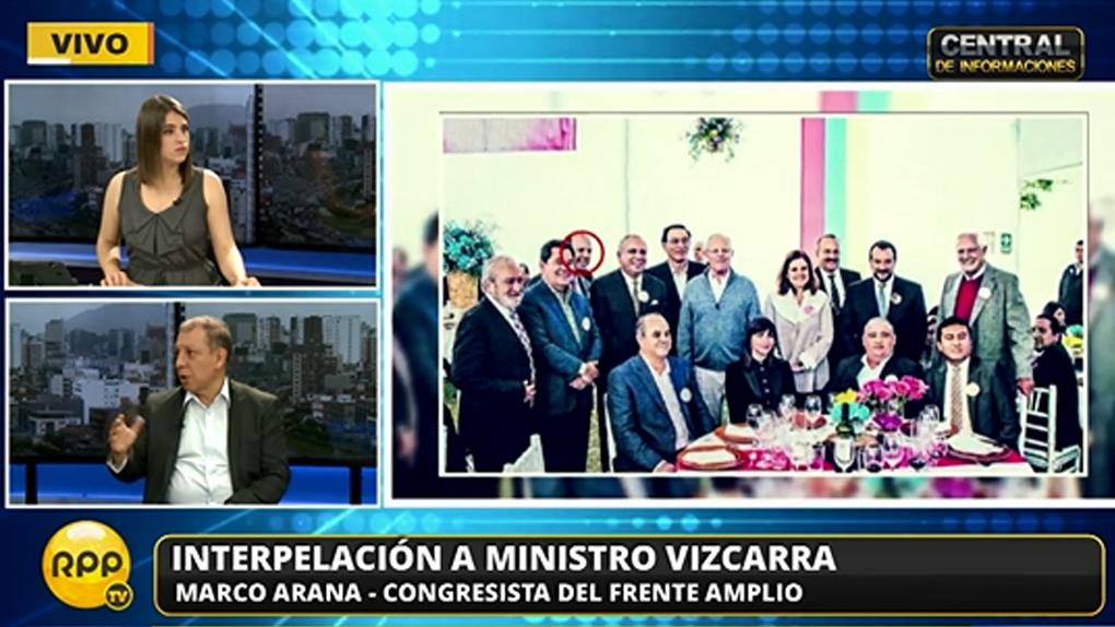 Marco Arana dijo que Martín Vizcarra es el único ministro que conoce la administración y la gestión regional.