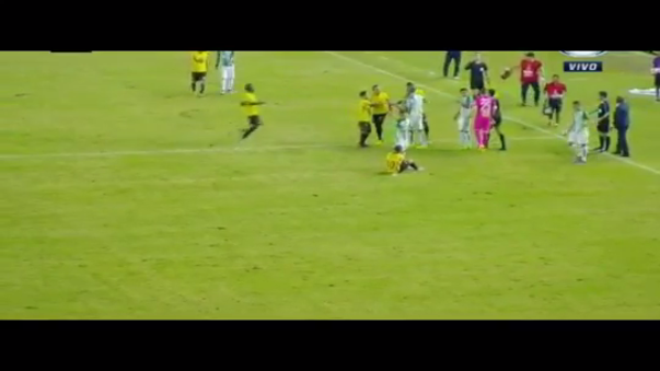 Mateus Uribe y Damián Díaz protagonizaron un espectáculo lamentable en Copa Libertadores.