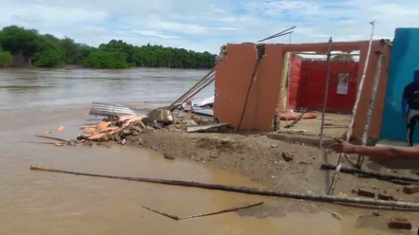 Esta es la situación en Jayanca por las inundaciones.