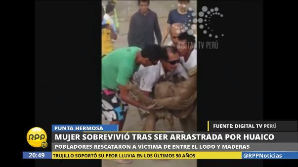 La mujer fue llevada al hospital María Auxiliadora.