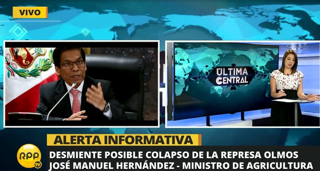 El ministro de Agricultura descartó que existe posibilidad de un colapso de Olmos.